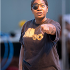 Landi Oshinowo in rehearsals for Big Fish The Musical at The Other Palace, London.