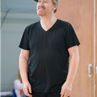 Forbes Masson in rehearsals for Big Fish The Musical at The Other Palace, London.