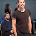 Jamie Muscato in rehearsals for Big Fish The Musical at The Other Palace, London.