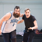 Dean Nolan and Jamie Muscato in rehearsals for Big Fish The Musical at The Other Palace, London.