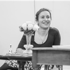 Behind the scenes at Lady Windermere's Fan rehearsals. Photo credit: Marc Brenner