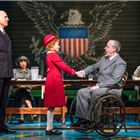 Alex Bourne (Daddy Warbucks), Ruby Stokes (Annie) and Russell Wilcox (Franklin D. Roosevert) - Photo credit: Paul Coltas