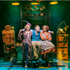 Kate Somerset How (Lily), Jonny Fines (Rooster) and Meera Syal (Miss Hannigan) - Photo credit: Paul Coltas