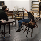 Behind the scenes at Long Day's Journey Into Night rehearsals. Credit: Hugo Glendinning.