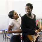 Adrienne Warren and Kobna Holdbrook-Smith during rehearsals for TINA - The Tina Turner Musical. Photo Credit: Johan Persson