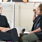 Phyllida Lloyd and Katori Hall during rehearsals for TINA - The Tina Turner Musical. Photo Credit: Johan Persson