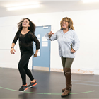 Simone Mistry-Palmer and Tina Turner during rehearsals for TINA - The Tina Turner Musical. Photo Credit: Johan Persson