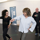 Simone Mistry-Palmer, Tina Turner and Anthony van Laast during rehearsals for TINA - The Tina Turner Musical. Photo Credit: Johan Persson
