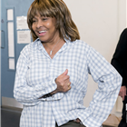 Tina Turner pays a visit to the company of TINA - The Tina Turner Musical during rehearsals. Photo Credit: Johan Persson