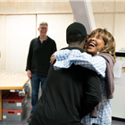 Kobna Holdbrook-Smith and Tina Turner during rehearsals for TINA - The Tina Turner Musical. Photo Credit: Johan Persson