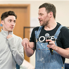 Drew McOnie and Will Young in rehearsals for Strictly Ballroom. Photo credit: Johan Persson.