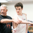 Fernando Mira and Jonny Labey in rehearsals for Strictly Ballroom. Photo credit: Johan Persson.