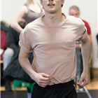 Jonny Labey in rehearsals for Strictly Ballroom. Photo credit: Johan Persson.