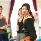 Zizi Strallen in rehearsals for Strictly Ballroom. Photo credit: Johan Persson.
