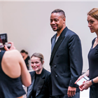 Sarah Soetaert, Cuba Gooding Jr. and Michelle Antrobus in rehearsals for Chicago. Photo credit: Tristram Kenton.