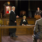 Current cast in Witness for the Prosecution at London County Hall. Credit: Ellie Kurttz.