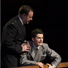 Harry Reid as Leonard Vole in Witness for the Prosecution at London County Hall. Credit: Ellie Kurttz.
