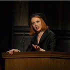Lucy Phelps as Romaine in Witness for the Prosecution at London County Hall. Credit: Ellie Kurttz.