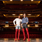 Simon-Anthony Rhoden (Lola) and Oliver Tompsett (Charlie) in Kinky Boots from Monday 4 June 2018.