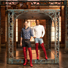 Oliver Tompsett (Charlie) and Simon-Anthony Rhoden (Lola) in Kinky Boots from Monday 4 June 2018.