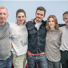 The West End cast of of Killer Joe in rehearsals. Photo credit: Marc Brenner