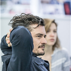 Orlando Bloom in rehearsals for Killer Joe at Trafalgar Studios. Photo credit: Marc Brenner
