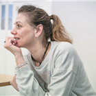 Neve McIntosh in rehearsals for Killer Joe at Trafalgar Studios. Photo credit: Marc Brenner