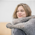 Sophie Cookson in rehearsals for Killer Joe at Trafalgar Studios. Photo credit: Marc Brenner