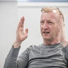 Steffan Rhodri in rehearsals for Killer Joe at Trafalgar Studios. Photo credit: Marc Brenner