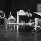West End cast of Lonely Planet in rehearsal at the Trafalgar Studios 2, London.
