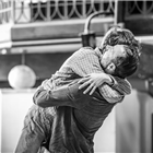 Ben Turner and Alex Lawther in rehearsals for The Jungle. Photo credit: Marc Brenner