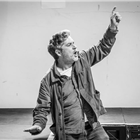 Gerard Carey in rehearsals for The Jungle. Photo credit: Marc Brenner
