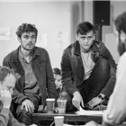 Joe Murphy and Joe Robertson in rehearsals for The Jungle. Photo credit: Marc Brenner