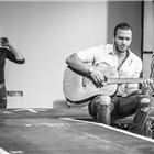 Kiki Kendrick and Moein Ghobsheh in rehearsals for The Jungle. Photo credit: Marc Brenner
