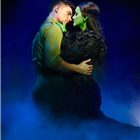 David Witts and Alice Fearn in Wicked at the Apollo Victoria Theatre, London. Photo credit: Darren Bell