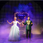 Sophie Evans and David Witts in Wicked at the Apollo Victoria Theatre, London. Photo credit: Darren Bell