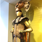 Mufasa costume from The Lion King displayed at the Disney in the West End Summer Pop-up