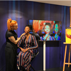 Mac make-up demonstration at the Disney in the West End Summer Pop-up