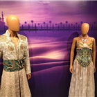 Costume from Aladdin displayed at the Disney in the West End Summer Pop-up