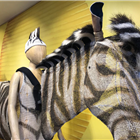 Zebra costume from The Lion King displayed at the Disney in the West End Summer Pop-up