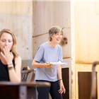 Anne Madeley and Eileen Atkins in rehearsals for The Height of the Storm. Photo credit: Helen Maybanks