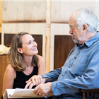 Anne Madeley and Jonathan Pryce in rehearsals for The Height of the Storm. Photo credit: Helen Maybanks