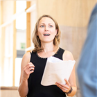 Anne Madeley in rehearsals for The Height of the Storm. Photo credit: Helen Maybanks