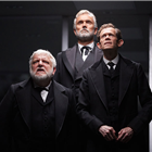Simon Russell Beale, Ben Miles and Adam Godley in The Lehman Trilogy at the National Theatre. Photo Credit: Mark Douet.