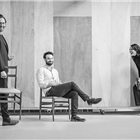 Tom Hiddleston, Zawe Ashton and Charlie Cox in Betrayal at The Harold Pinter Theatre - Photo credit: Marc Brenner