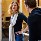 Anna Gunn at rehearsals for The Night of the Iguana at the Noel Coward Theatre. Photo credit: Brinkhoff Moegenburg