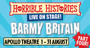 Book Horrible Histories: Barmy Britain - Part Four! Tickets