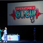 Operation Ouch! Live on Stage at the Apollo Theatre, London. Photo credit: Prudence Upton