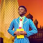 Idriss Kargbo (Boq) in Wicked at the Apollo Victoria Theatre - photo credit Matt Crockett
