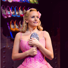 Helen Wollf (Glinda) in Wicked at the Apollo Victoria Theatre - photo credit Matt Crockett